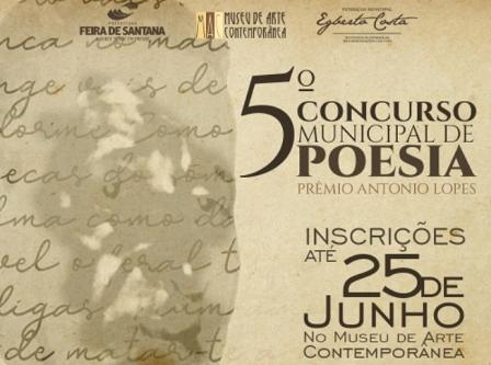 5º Concurso Municipal de Poesia - Prêmio Antonio Lopes