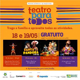 Projeto Teatro para Todos leva programação gratuita de teatro para Feira de Santana