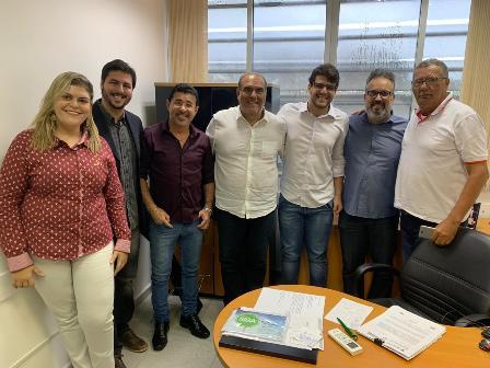 Rogério Andrade Filho se reúne com prefeito e vereadores de Valença