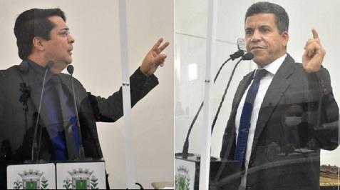 Fernando Torres e Petrônio Lima - montagem site Política In Rosa